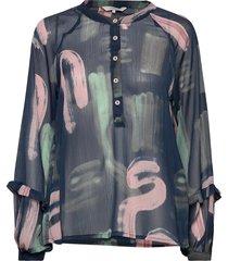 nubert blouse blus långärmad multi/mönstrad nümph
