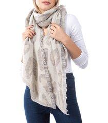 marcus adler women's alexa leopard-print scarf - ivory grey