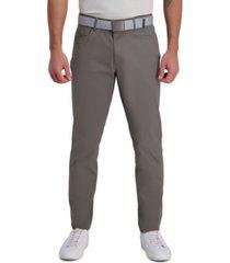 haggar the active series city flex traveler slim fit flat front 5-pocket casual pant (ripstop)