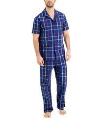 club room men's plaid pajama set, created for macy's