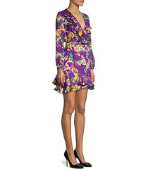 jodie silk-blend floral dress
