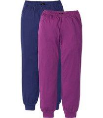 pantaloni per pigiama (pacco da 2) (blu) - bpc bonprix collection