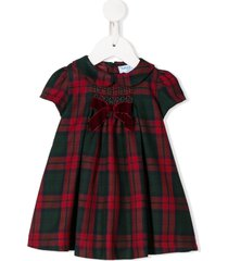 siola check print peter pan collar dress - red
