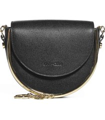see by chloé mara leather evening shoulder bag