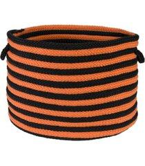 colonial mills spunky stripe braided storage basket