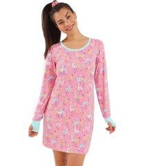 nite nite by munki munki scrunchie & nightgown 2pc set