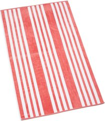 """hotel collection resort cabana stripe cotton 40"""" x 70"""" beach towel, created for macy's bedding"""