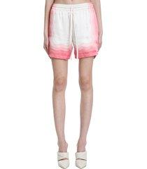 casablanca shorts in rose-pink silk