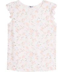 blusa mujer claveles m/c arandela color blanco, talla l