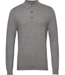 riley knitted long sleeve polo polos long-sleeved grijs lexington clothing