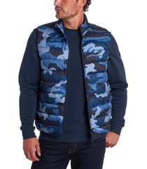 barbour men's camouflage quilted gilet
