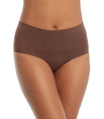 women's spanx everyday shaping panties briefs, size x-small - beige