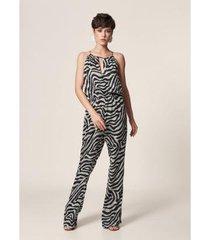 macacão mob chiffon zebra feminino - feminino