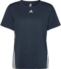 3-stripes t-shirt t-shirts & tops short-sleeved blå adidas performance