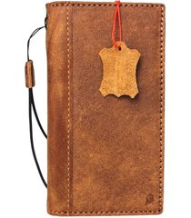 genuine leather case for oppo r11 book wallet cover vintage brown cards slots uk