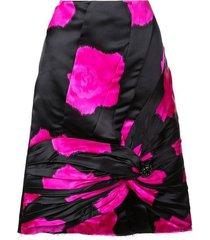 knot detail a-line skirt