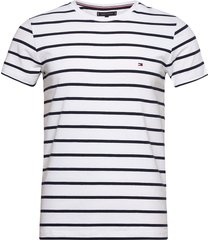 stretch slim fit tee t-shirts short-sleeved vit tommy hilfiger