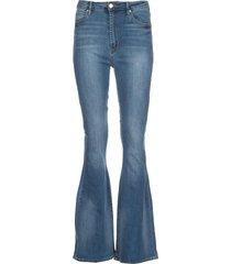 high waist flared jeans bridgette  blauw
