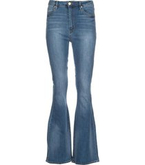high waist flared jeans bridgette  blauw