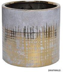 osłonka ceramiczna szaro-złota
