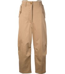 givenchy baggy fit trousers - brown