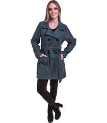 sobretudo jaqueta inverno frio lã batida acinturado com cinto cinza - kanui
