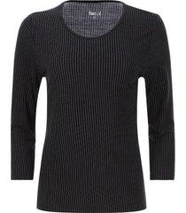 camiseta mujer raya y punto color negro, talla l