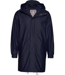 long quilted parka parka jas blauw rains