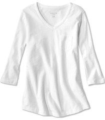 1856 organic cotton three-quarter-sleeved tee