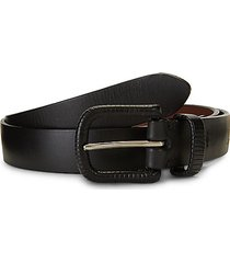 collection leather wrapped buckle belt