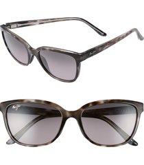 maui jim honi 54mm polarizedplus2 cat eye sunglasses - grey tortoise stripe