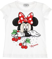 monnalisa cherries and pois cotton jersey t-shirt