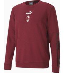 ac milan ftblculture voetbalsweater ii voor heren, zwart/rood, maat m | puma