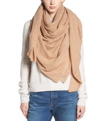 women's halogen lightweight cashmere scarf, size one size - brown