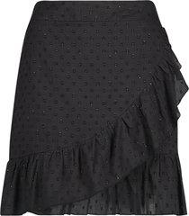 katoenen rok met lurex salienta  zwart