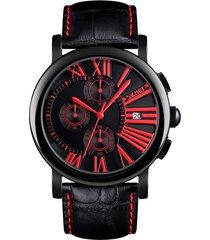 multi-función skmei corriendo segundos deportivo reloj de hombre masculino de moda de acero inoxidable pulido brillante de cuadrante dial de 24 horas