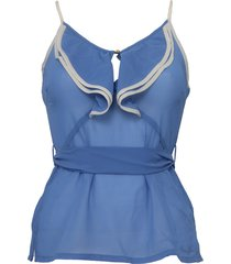 pepe jeans top - jillian - blauw / blue