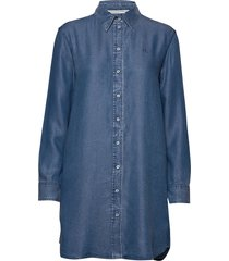 indigo tencel shirt dress korte jurk blauw calvin klein jeans