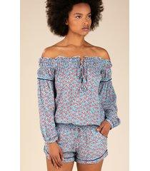 poupette st barth clara jumpsuit bluebell