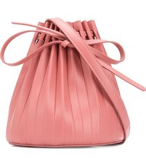 mansur gavriel pleated bucket bag - pink