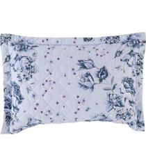 porta travesseiro altenburg home collection 180 fios 50cm x 70cm nostalgie  azul - tricae