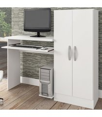 mesa para computador irlanda 2 portas branco fosco - atualle móveis