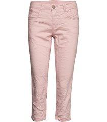 vavacr 3/4 pant coco fit rechte jeans roze cream