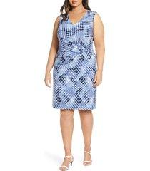 plus size women's nic+zoe crossover tie dye twist detail dress