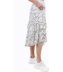 falda rosalia blanco y gris night concept