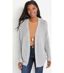 maurices womens solid oversized lounge cardigan gray