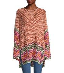 free people women's heatwave crochet pullover - cinnamon multi - size s