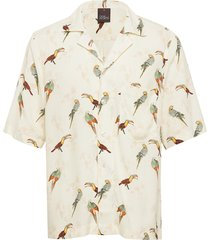 hilmer reg shirt overhemd met korte mouwen crème oscar jacobson