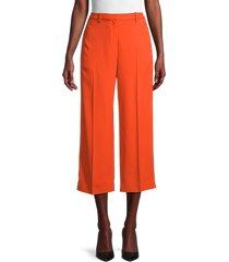 theory women's wide-leg cropped pants - fire - size 00