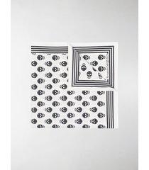 alexander mcqueen skull-print scarf